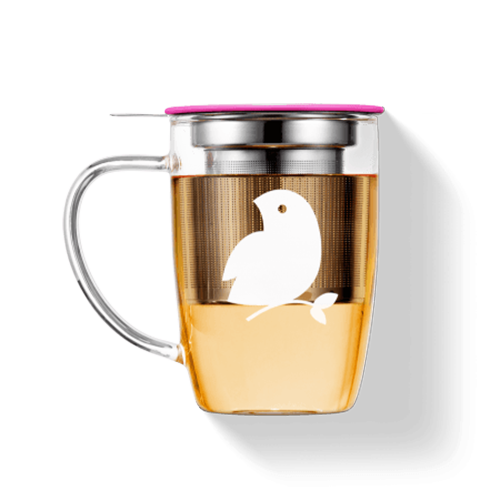 LØVELY MUG IN GLASS (PINK)